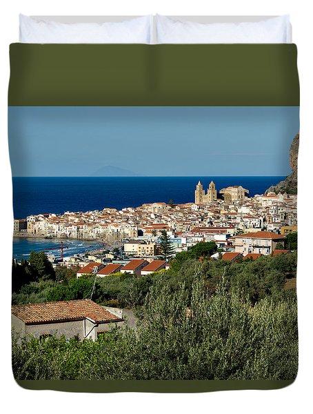 Cefalu Sicily Duvet Cover