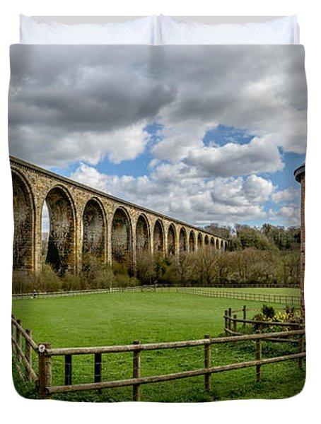 Cefn Viaduct Duvet Cover by Adrian Evans