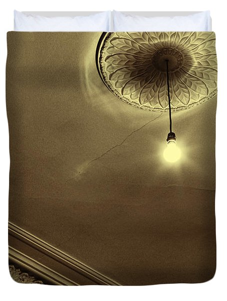 Duvet Cover featuring the photograph Ceiling Light by Craig B