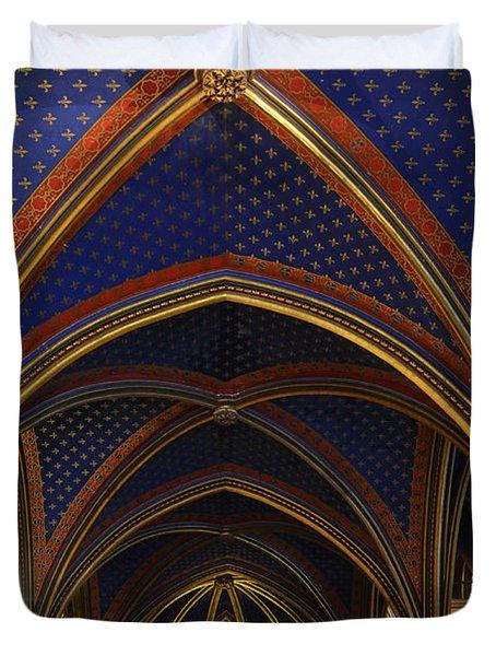 Ceiling Of The Sainte-chapelle  Paris Duvet Cover