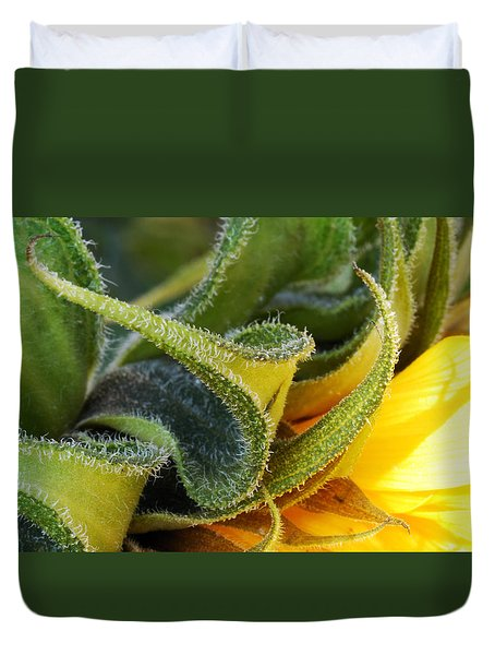 Duvet Cover featuring the photograph Celebration Sunflower by Wendy Wilton