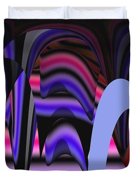 Celestial Cave Digital Art Duvet Cover by Georgeta  Blanaru