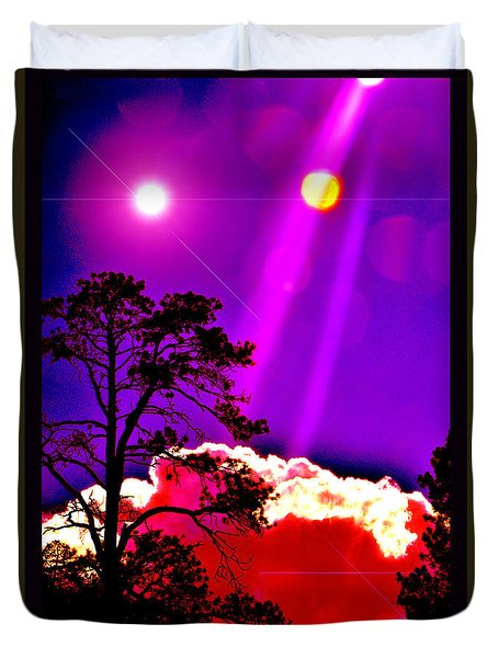 Duvet Cover featuring the photograph Celestial Infusion by Susanne Still