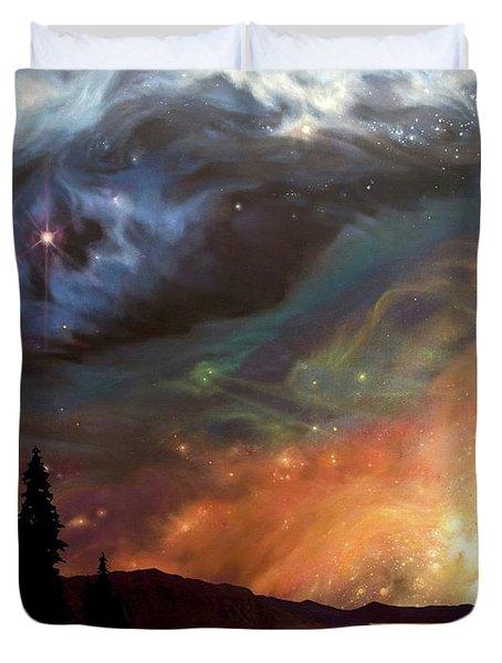 Celestial Northwest Duvet Cover
