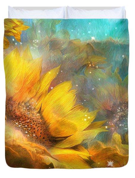 Celestial Sunflowers Carol Cavalaris on Prose Metal Wall Art