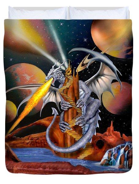 Celestian Dragon Duvet Cover by Glenn Holbrook