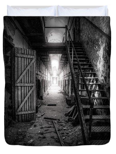 Cell Block - Historic Ruins - Penitentiary - Gary Heller Duvet Cover by Gary Heller