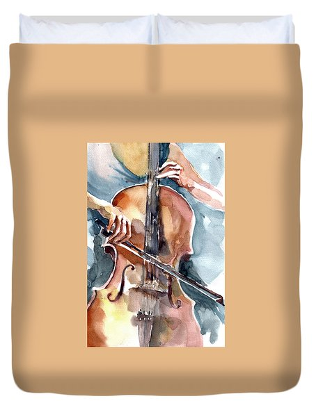 Cellist Duvet Cover