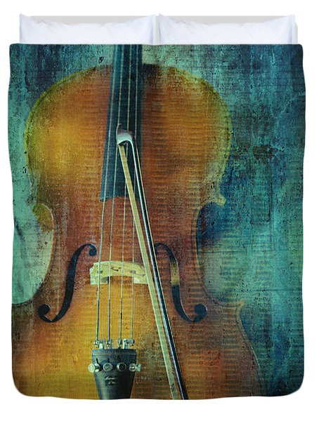Cello  Duvet Cover by Erika Weber
