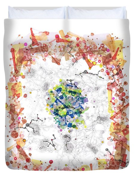 Cellular Generation Duvet Cover