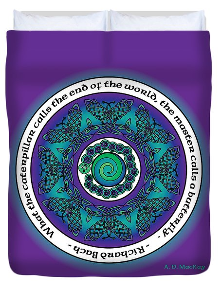Celtic Butterfly Mandala Duvet Cover