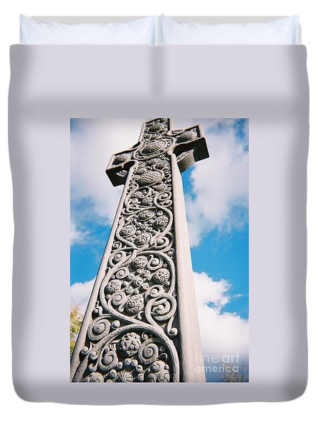 Art Nouveau Celtic Cross I Duvet Cover