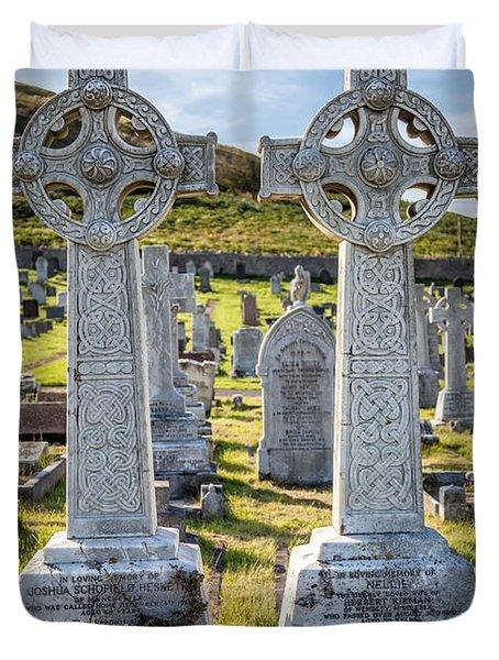 Celtic Crosses Duvet Cover by Adrian Evans