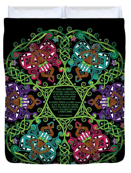 Celtic Fairy Mandala Duvet Cover