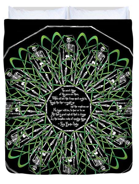 Celtic Flower Of Death Duvet Cover