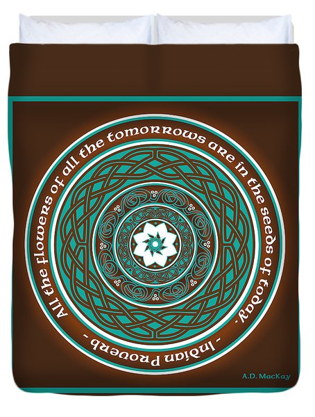 Celtic Lotus Mandala Duvet Cover
