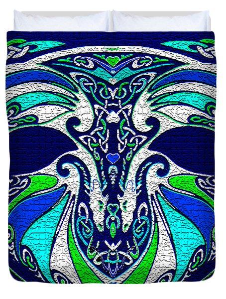 Celtic Love Dragons Duvet Cover