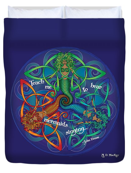 Celtic Mermaid Mandala Duvet Cover