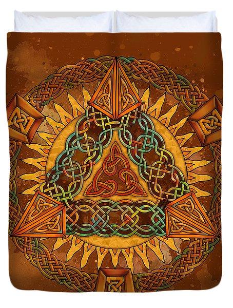 Celtic Pyramid Mandala Duvet Cover