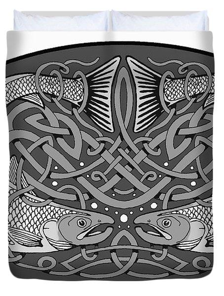 Celtic Salmon Duvet Cover