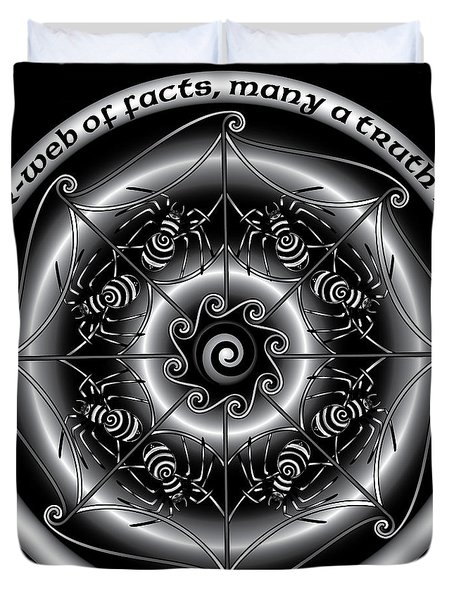 Celtic Spider Mandala Duvet Cover