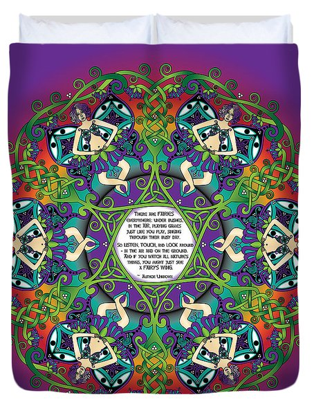 Celtic Spring Fairy Mandala Duvet Cover