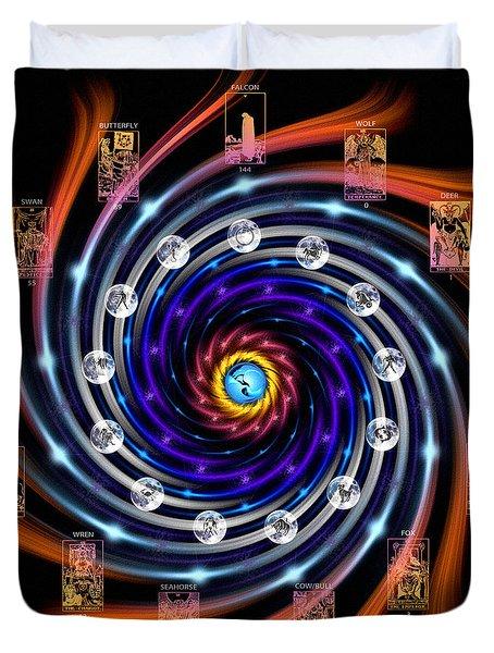 Celtic Tarot Moon Cycle Zodiac Duvet Cover