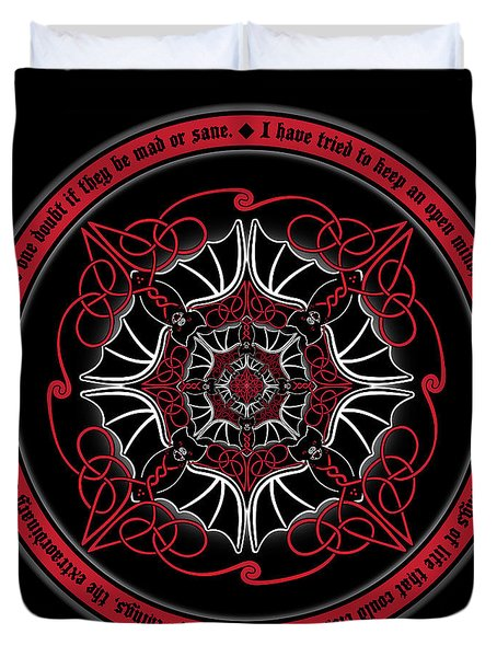 Celtic Vampire Bat Mandala Duvet Cover