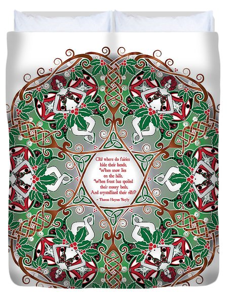 Celtic Winter Fairy Mandala Duvet Cover