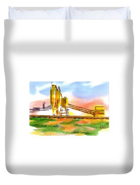 Cement Plant Across The Tracks Duvet Cover by Kip DeVore