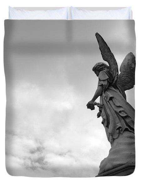 Cemetery Watcher Duvet Cover by Jennifer Ancker