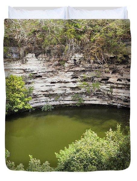 Cenote Sagrado At Chichen Itza Duvet Cover