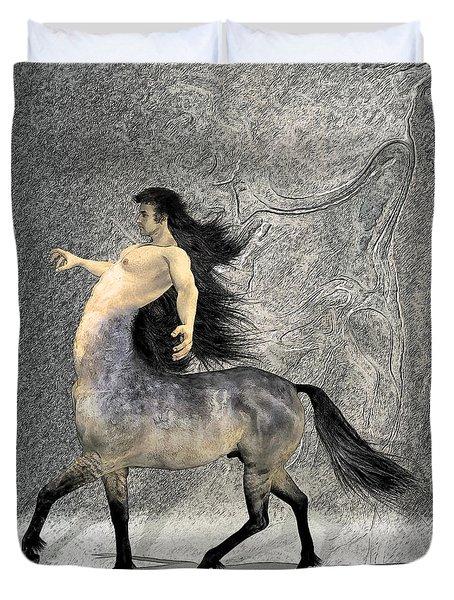 Centaur Duvet Cover by Quim Abella