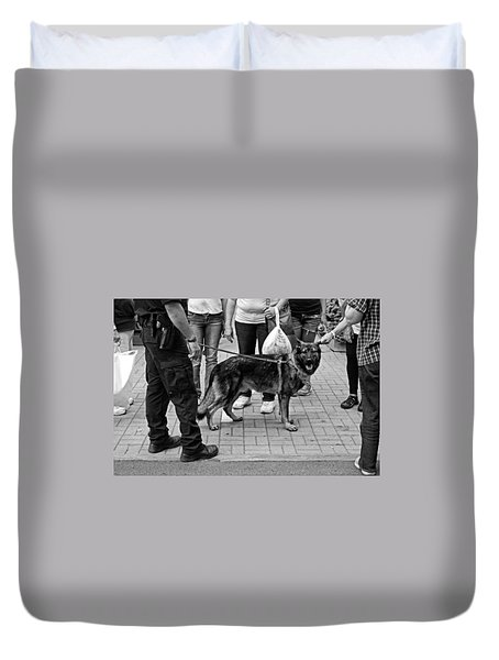 Center Of Attention Duvet Cover