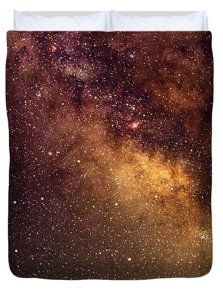 Center Of The Milky Way Duvet Cover by Alan Vance Ley
