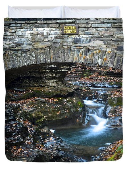 Central Cascade Duvet Cover by Frozen in Time Fine Art Photography