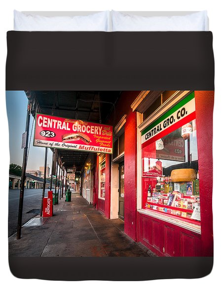 Central Grocery And Deli In New Orleans Duvet Cover