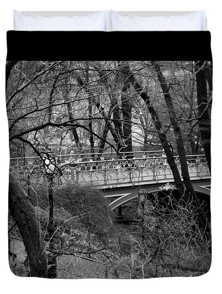 Central Park 2.1 Black And White Duvet Cover by Chris Thomas