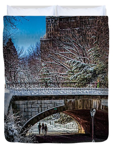 Central Park After Nemo Duvet Cover by Chris Lord