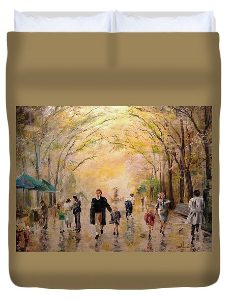 Central Park Early Spring Duvet Cover