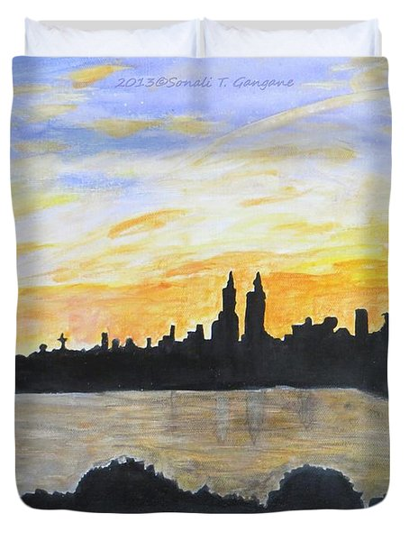 Central Park In Newyork Duvet Cover