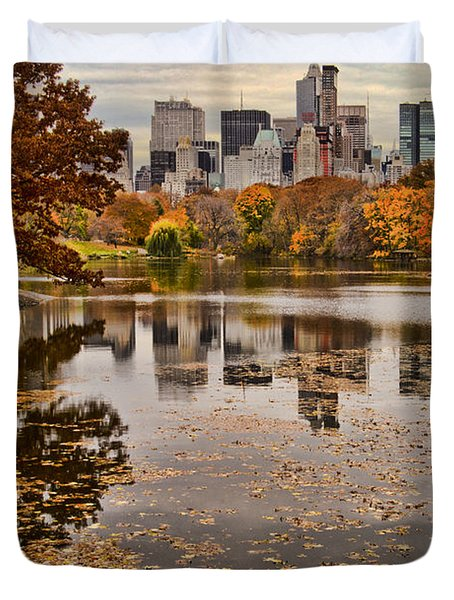 Central Park In The Fall New York City Duvet Cover