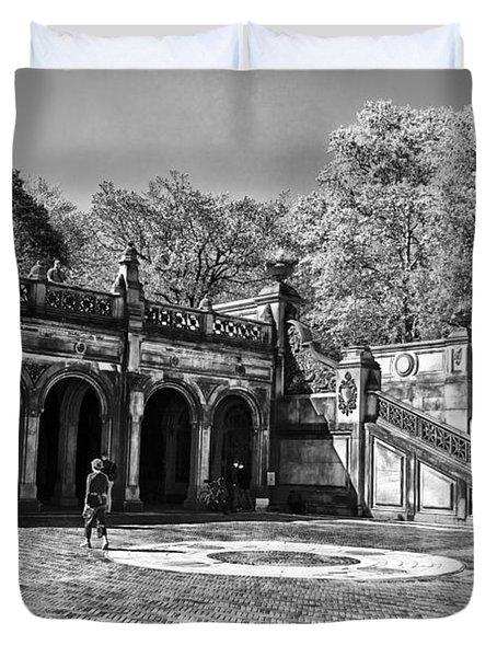 Central Park - Near Bethesda Fountain Duvet Cover by Madeline Ellis