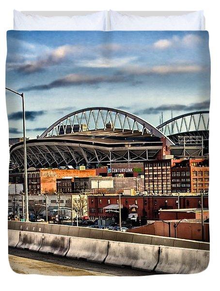 Century Link Field Seattle Washington Duvet Cover by Michael Rogers