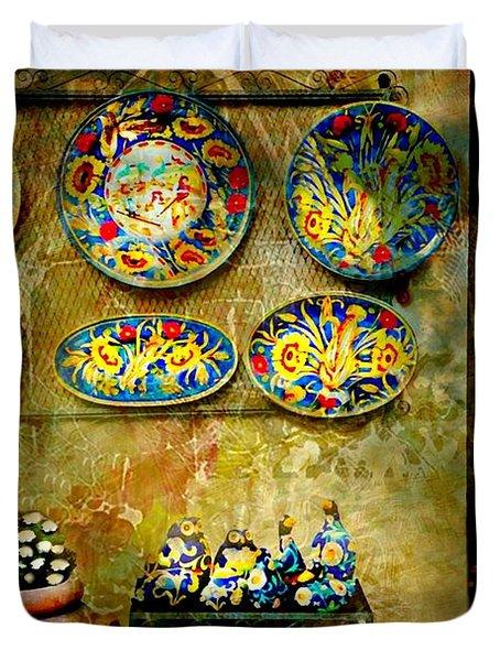 Ceramica Italiana Duvet Cover by Diana Angstadt