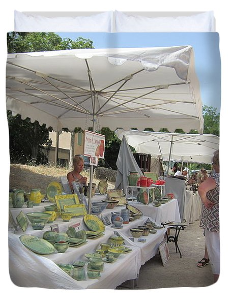 Ceramics For Sale Duvet Cover by Pema Hou
