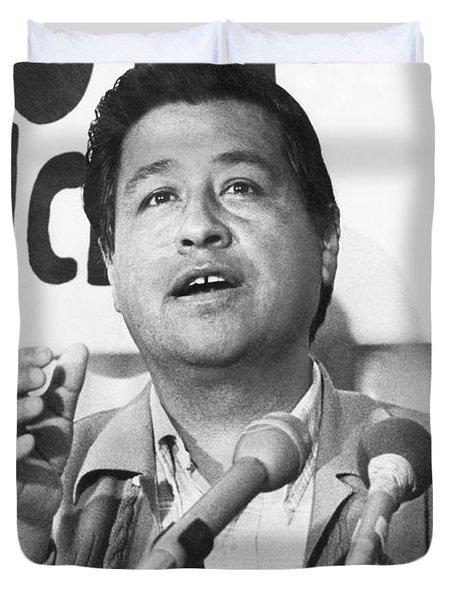 Cesar Chavez Announces Boycott Duvet Cover by Underwood Archives