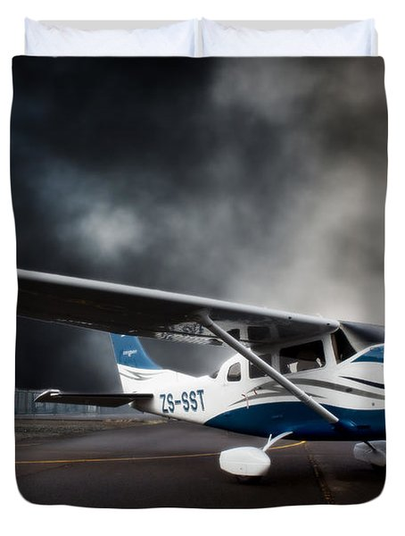 Cessna Ground Duvet Cover by Paul Job