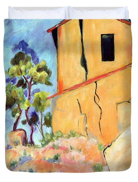 Cezanne's House With Cracked Walls Duvet Cover by Jamie Frier