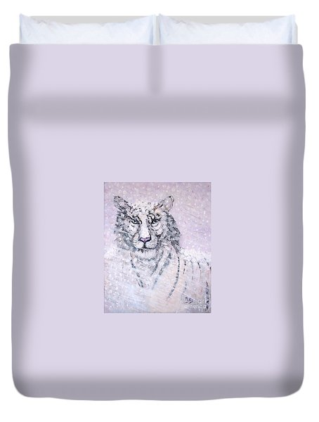 Chairman Of The Board Duvet Cover by Phyllis Kaltenbach